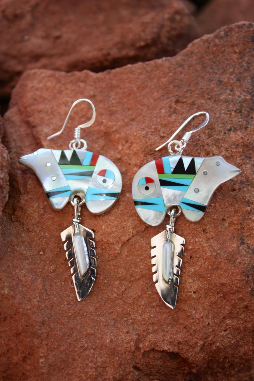 Australian Gaspeite Earrings Elegant Hoops Southwest
