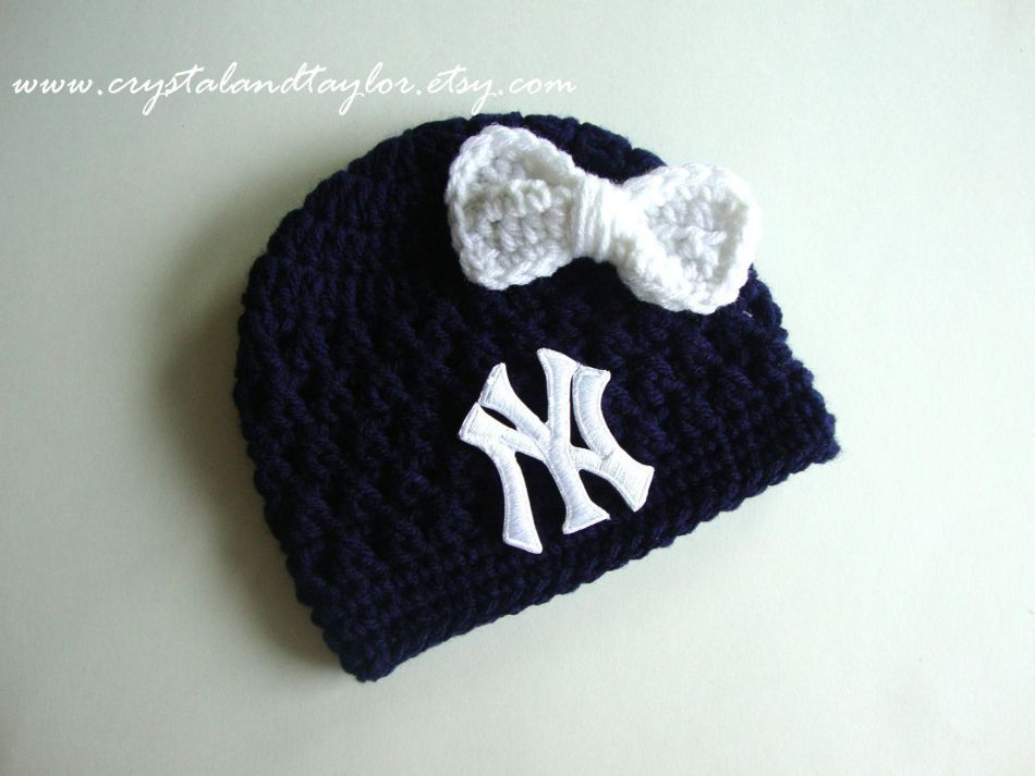 c6811eafede Ready to Ship New York Yankees Baby Girl Hat by crystalandtaylor ...