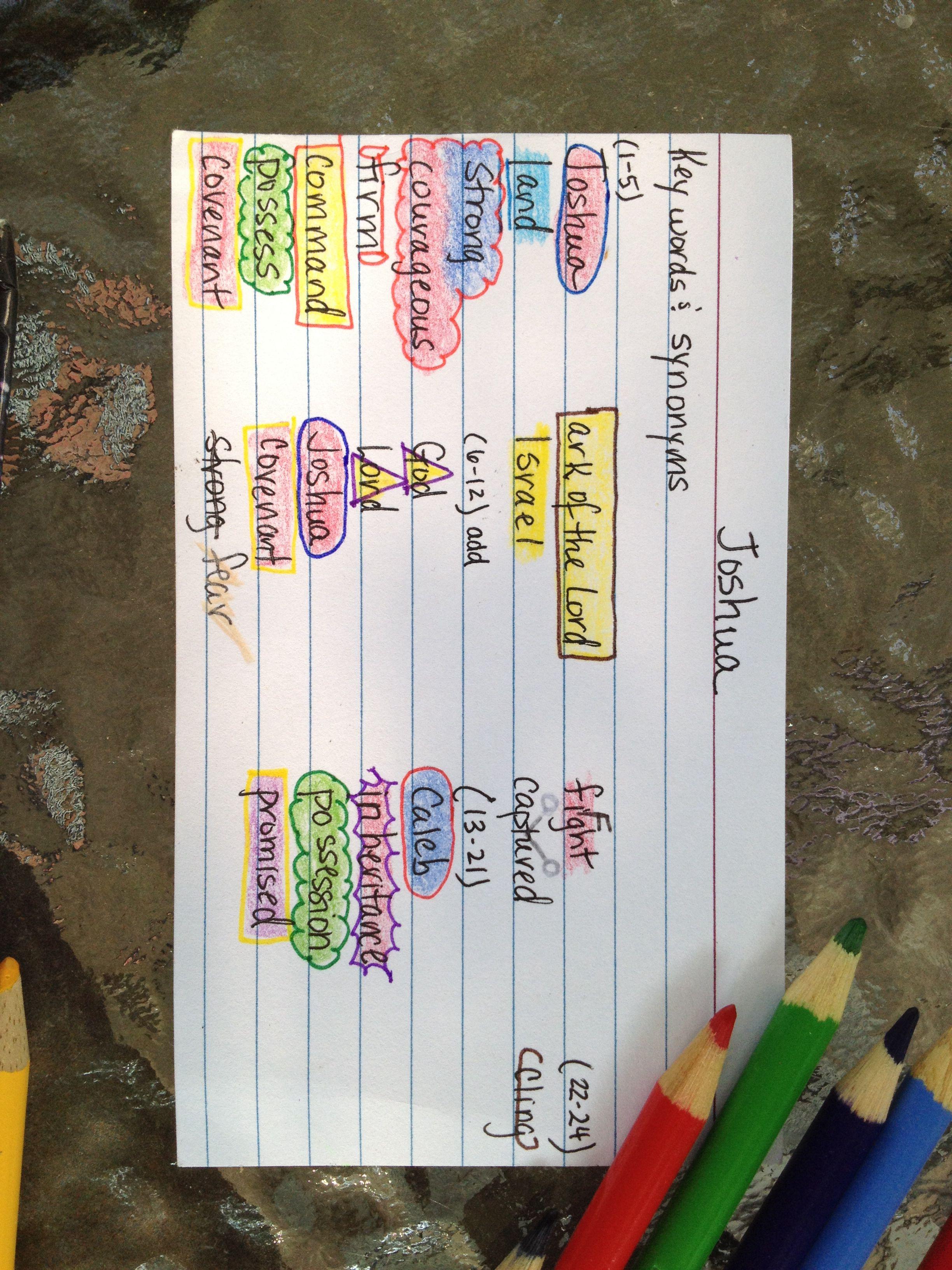 Joshua Inductive Bible Study Using Precept Nasb Notes Key For Bible