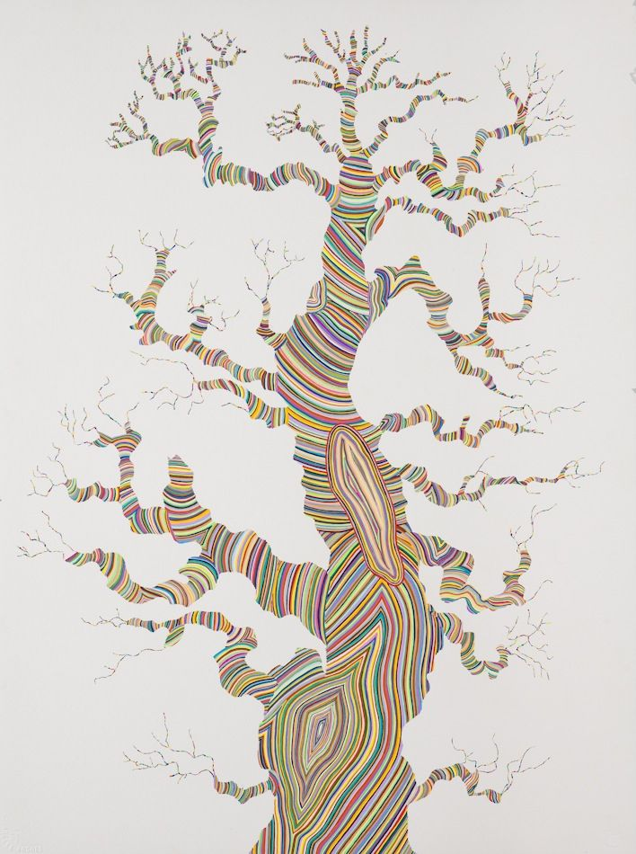 A Year in the Life of 8 String Theory Drawings, Carrie Marill