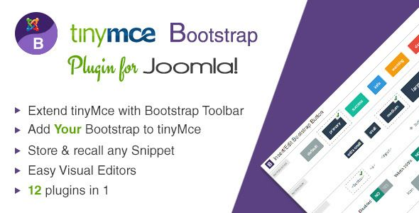 TinyMce Bootstrap plugin for Joomla   Code Script   Text