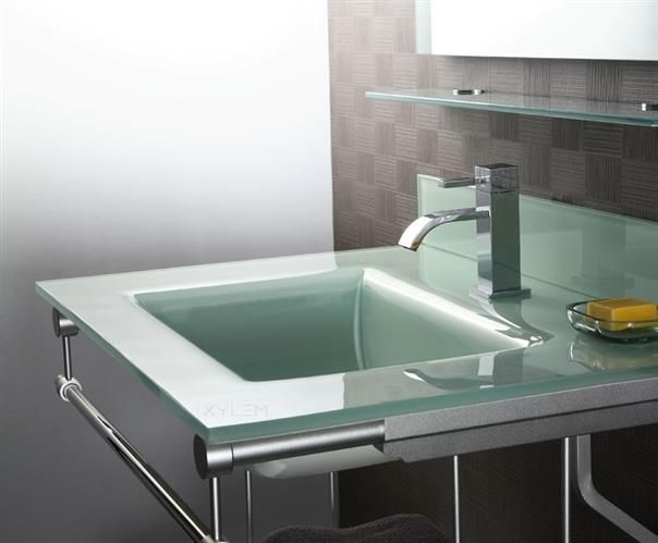 Wonderful Tempered Glass Vanity Top With Integrated Sink 19 With