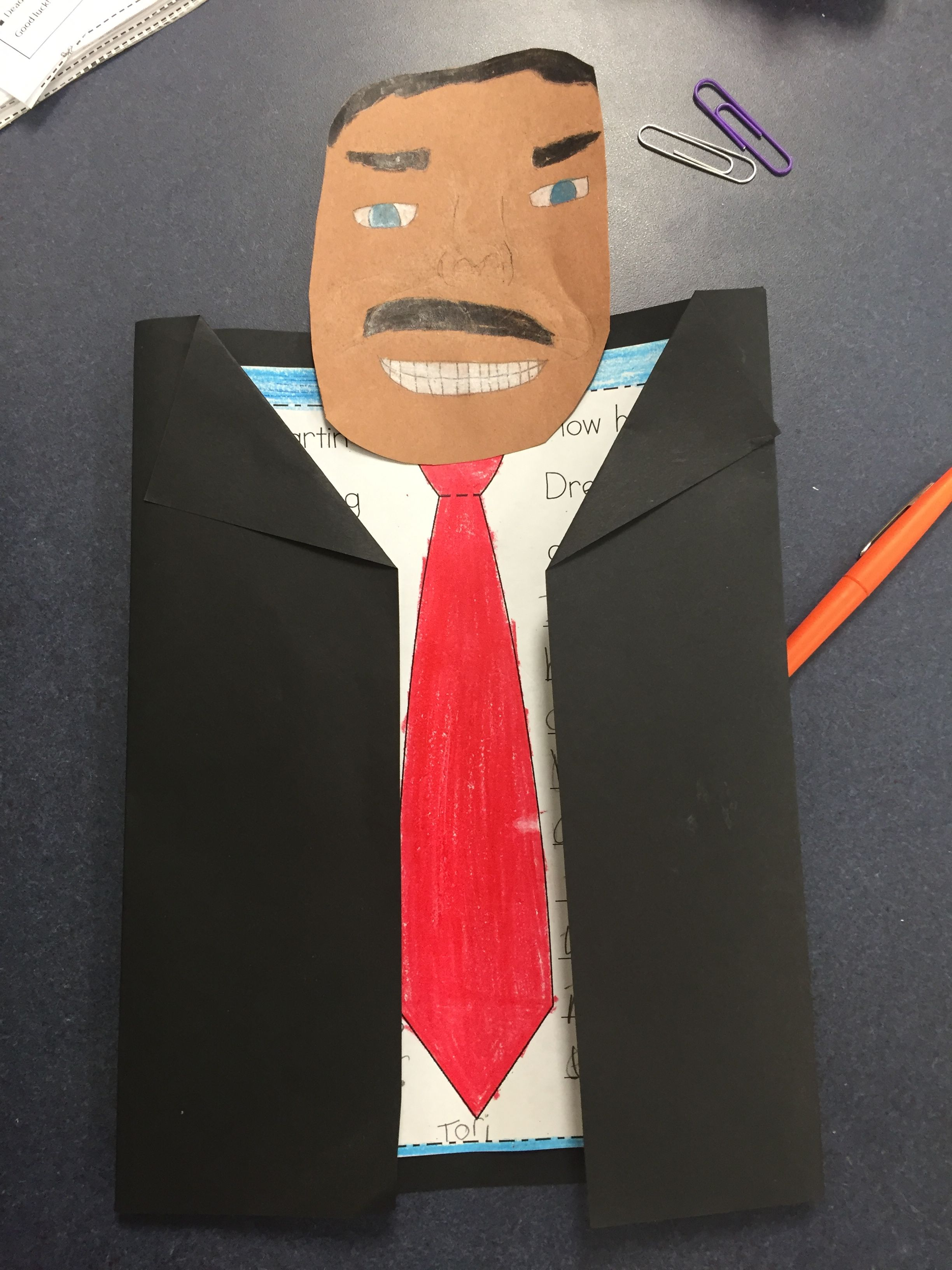 Junior hallway ideas  MLK Jr Martin Luther King Jr craft for fourth grade