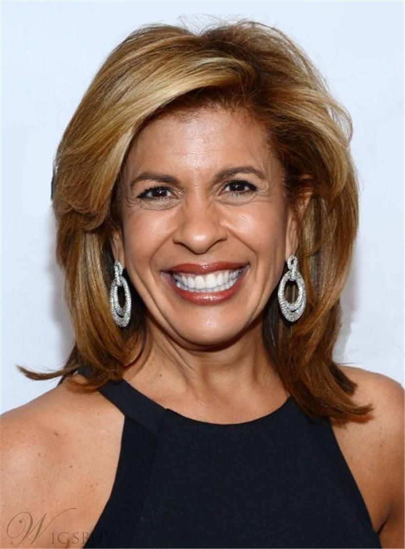 hoda kotb layered one side part synthetic hair lace front