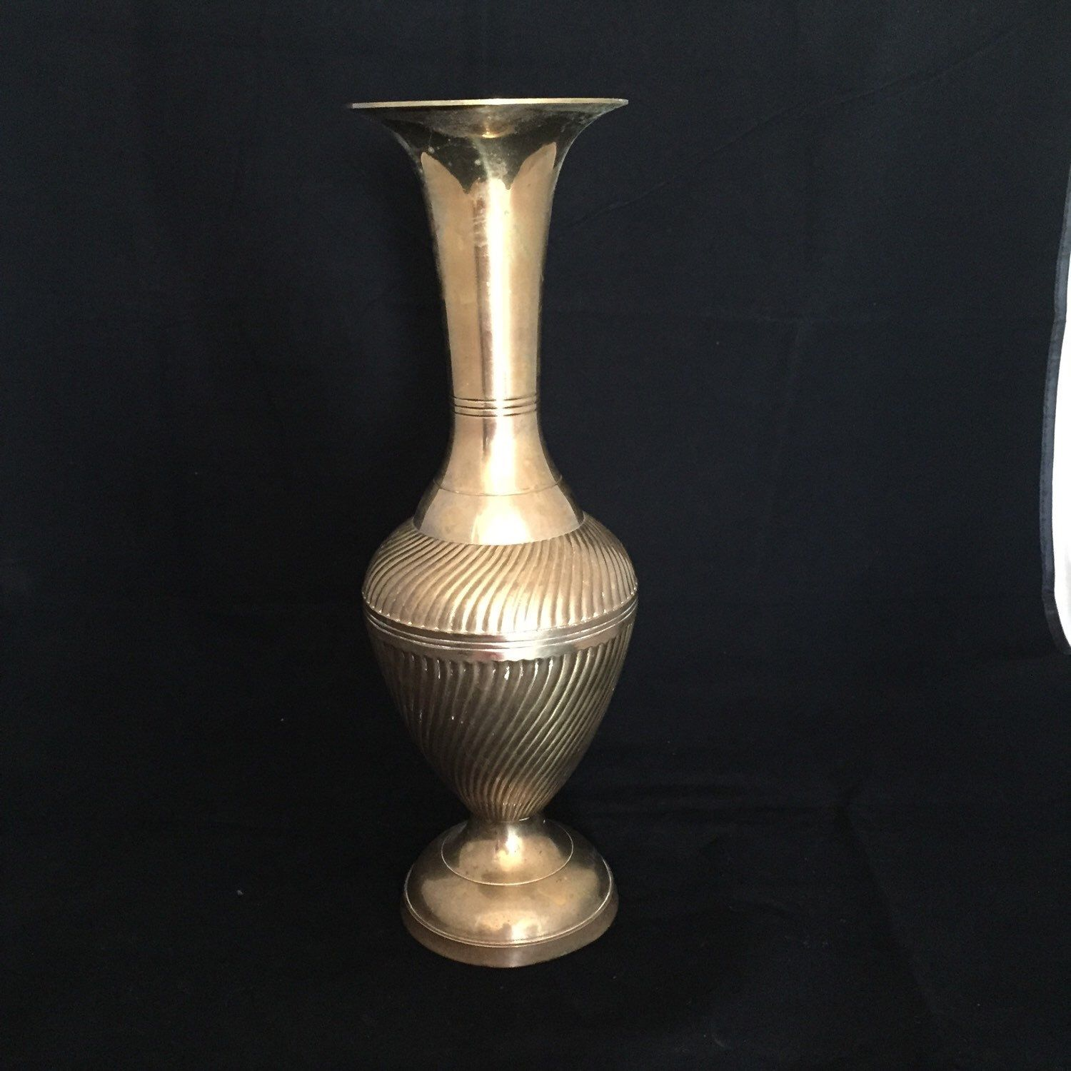 A personal favorite from my etsy shop httpsetsyca on sale solid brass vase tall majestic brass statement piece tall brass decor vase by glyndasvintageshop on etsy reviewsmspy