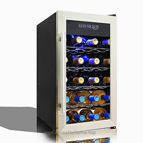 Nutrichef Thermoelectric Wine Cooler Chiller Beverage Cellar For Wine Enthusiasts C Wine Cooler Stainless Steel Fridge