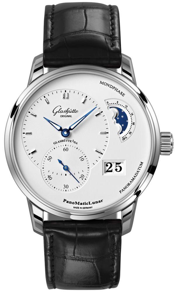 Glashütte Original: Glashutte Original PanoMaticLunar 1-90-02-42-32-05.  This watch features:       Stainle...