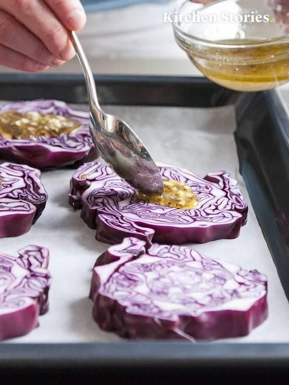 Photo of Baked red cabbage steaks with goat cheese Recipe with video | Kitchen stories