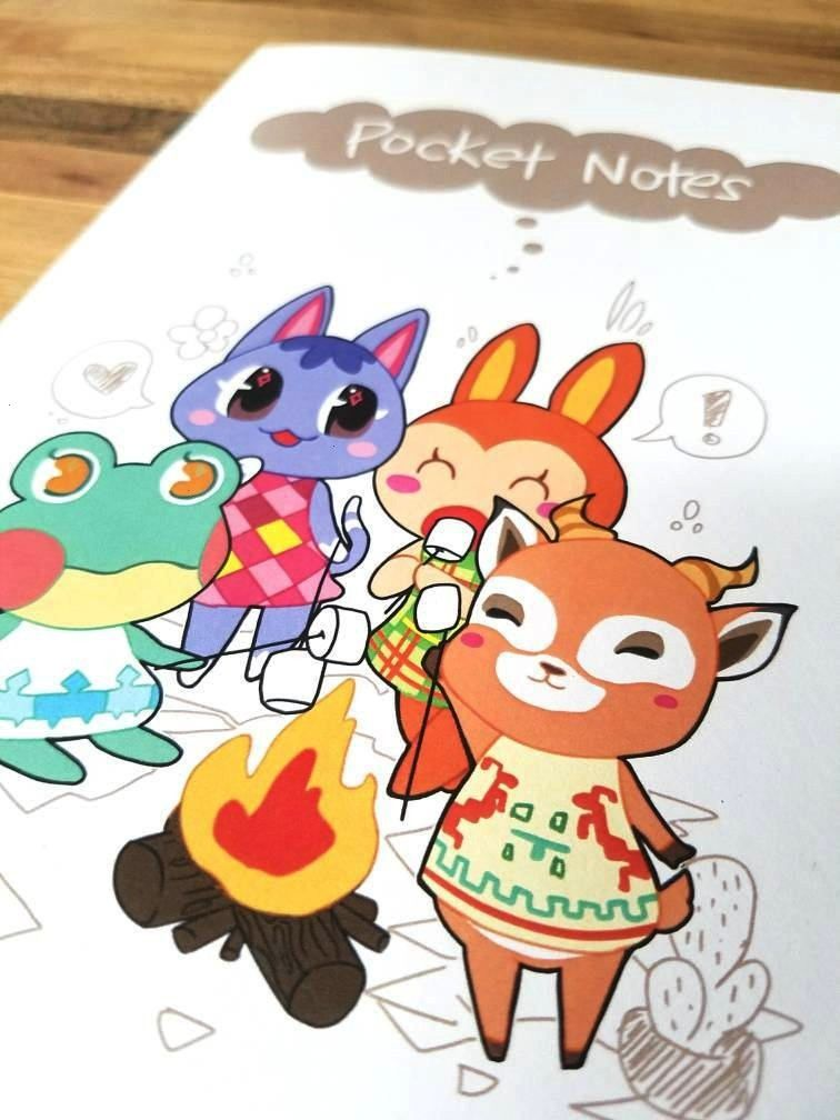 Crossing Pocket Camp Notebook made by Tiffany Wang -Animal Crossing Pocket Camp Notebook made by Ti