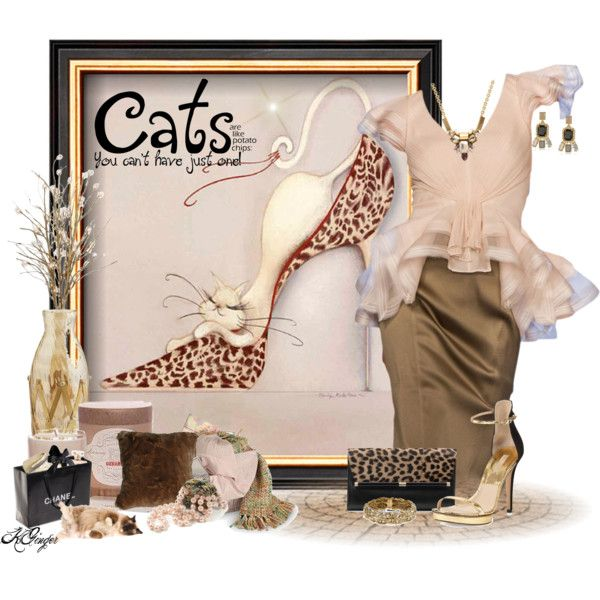 """""""Fashion should always include cats"""" by kginger on Polyvore"""
