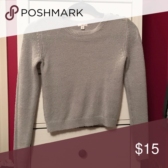 Sweater Grey Sweater. Only worn once! tight fitting bp Sweaters Crew & Scoop Necks