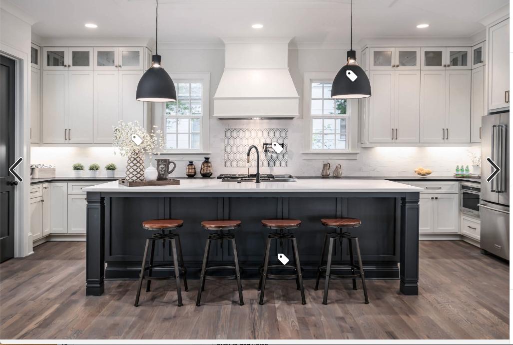 black and white kitchen Transitional kitchen design