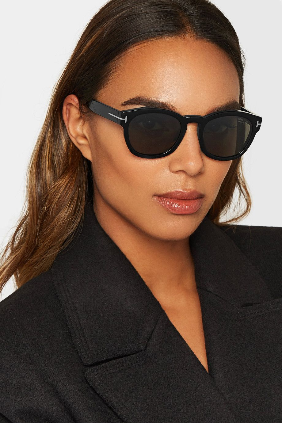 Cat-eye Gold-tone Mirrored Sunglasses - Blue Tom Ford xisiwx