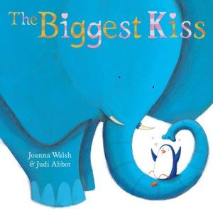 THE BIGGEST KISS A celebration of kisses from the sleepy goodnight kiss and the splishy splashy fish kiss to the sticky lipstick kiss and finally the best kiss of all.