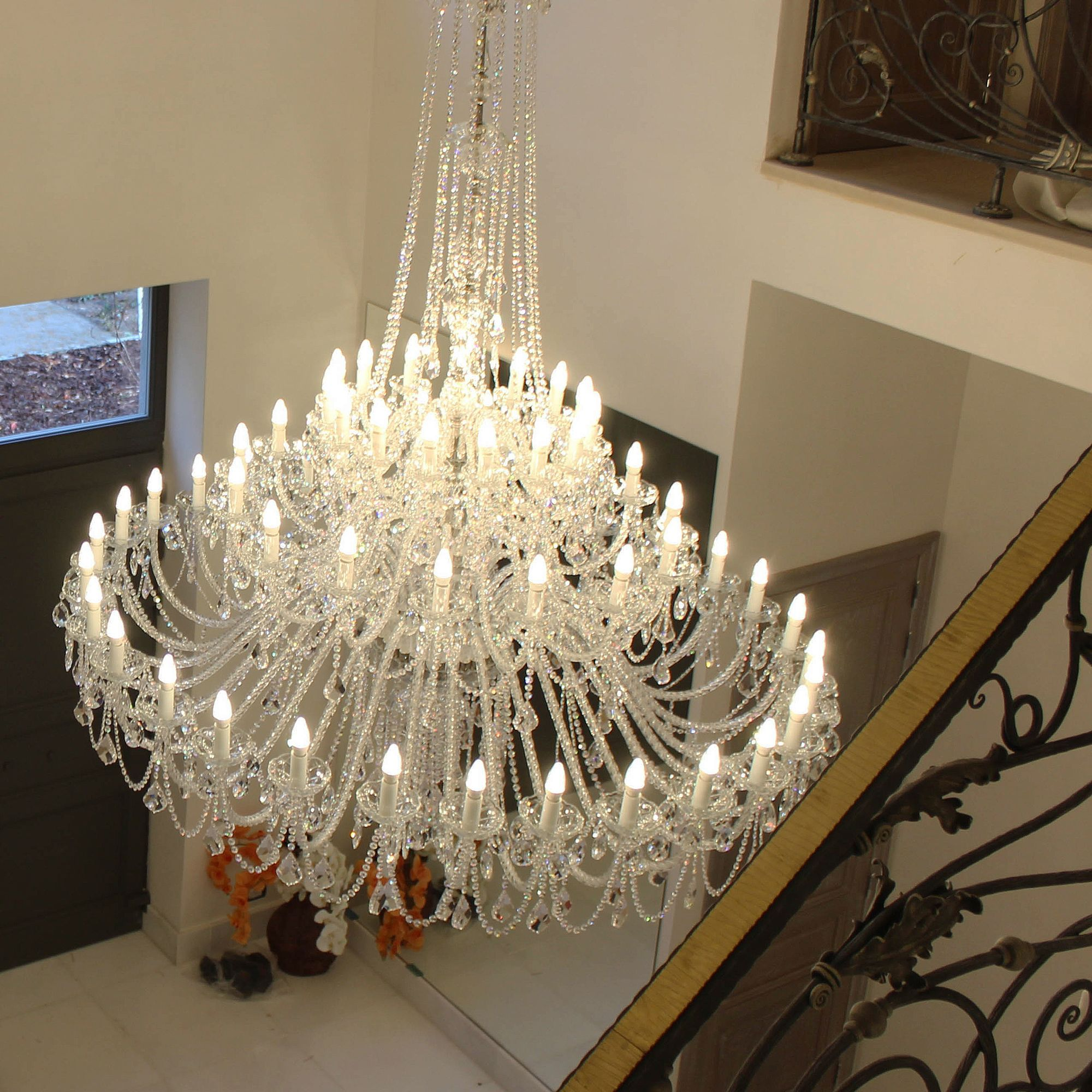 We Have Recently Installed Our Traditional Crystal Chandeliers