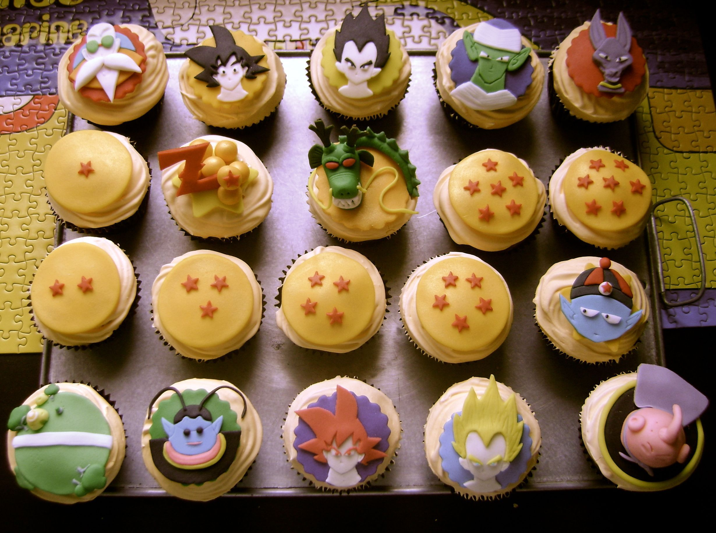 Magdalenas Decoradas Infantiles Dragon Ball Cupcakes Cupcakes By Me Pinterest Dragon Ball