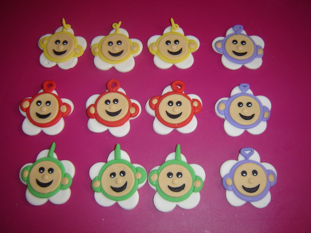 Teletubbies cupcake toppers | Birthday cupcakes, Cupcake ...