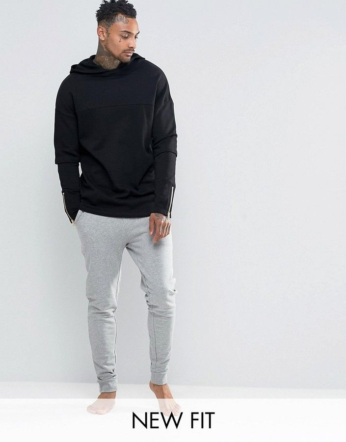 ASOS Loungewear Skinny Joggers With Striped Double Waistband