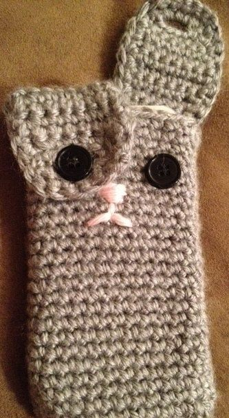 Ipod Pal Crochet Bunny Rabbit Case For Iphone Or Ipod Smart Phone