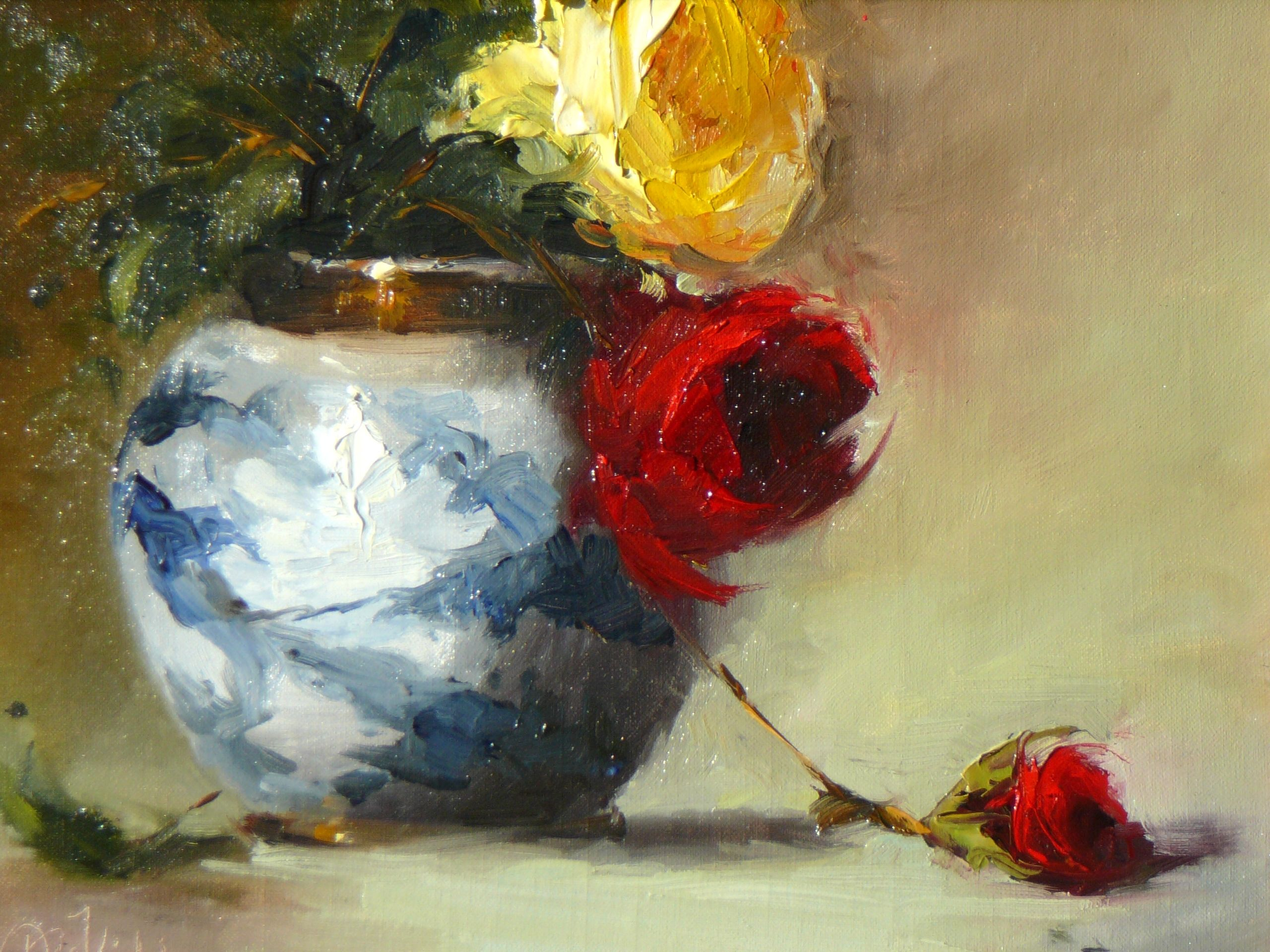 RED ROSE YELLOW ROSE, BY DEE KIRKHAM
