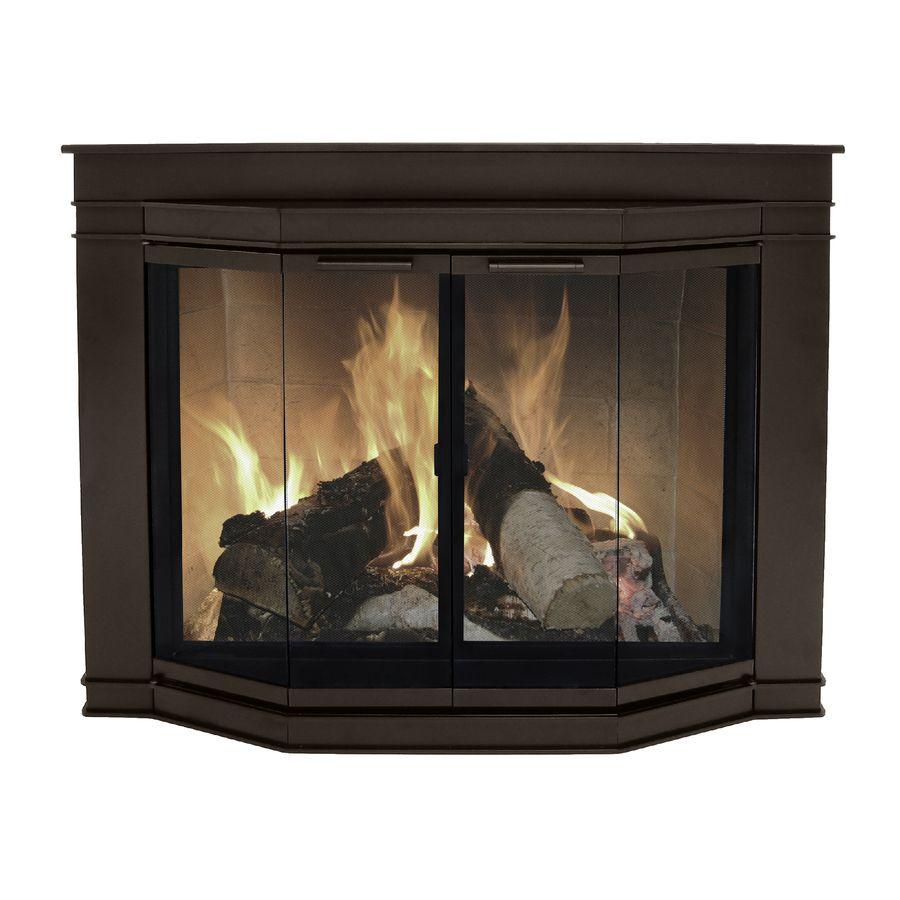 Pleasant Hearth Fieldcrest Extra Small Glass Fireplace Doors Fc