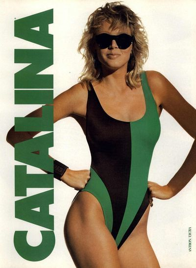e1e3ee367e1 1987 ads for Catalina swimsuits | cool stuff | 80s swimsuit, Designer  swimwear, Swimwear