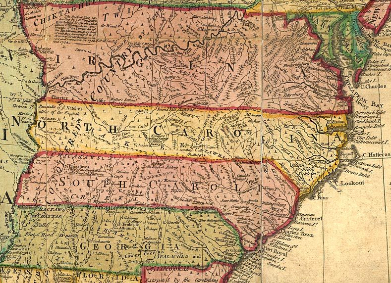 Early Eastern Nc Indians North Carolina South Carolina - Map of virginia and north carolina