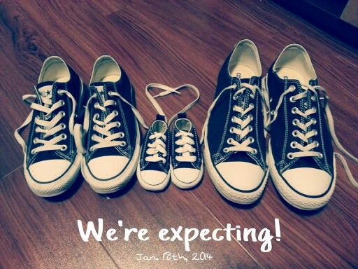 How I broke the news! Converse, expecting, baby announcement