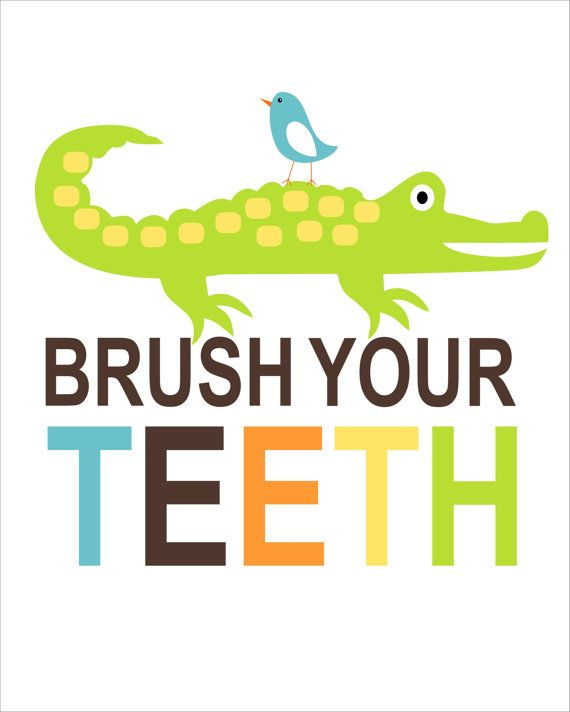 Kids Bathroom Wall Art alligator childrens bathroom wall art, brush your teeth,childrens