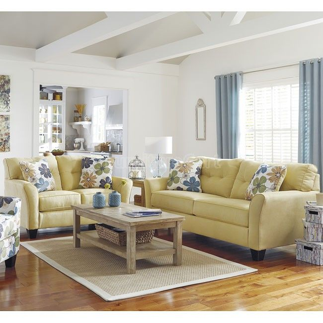 Best Kylee Goldenrod Living Room Set Living Room Sets 400 x 300