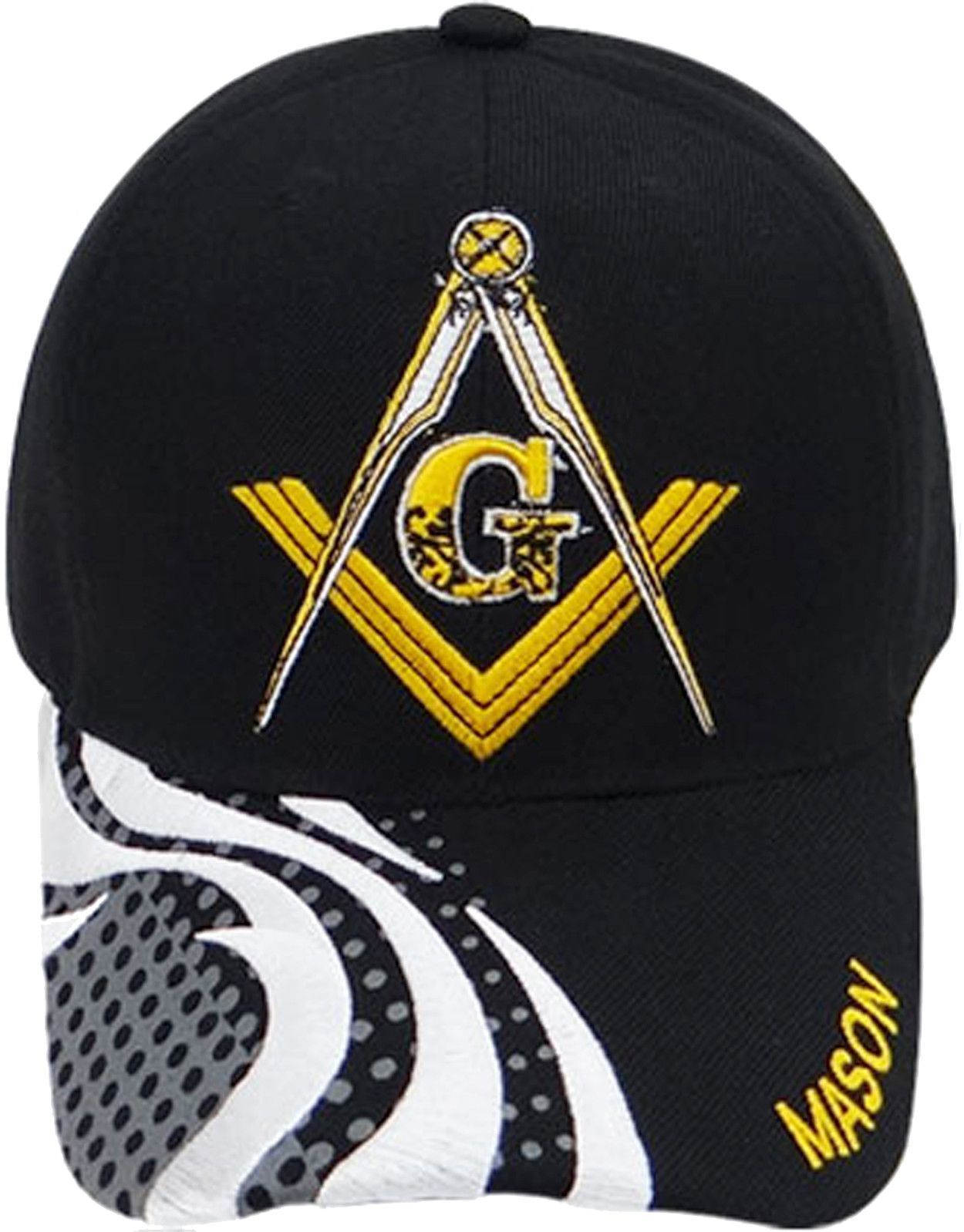 a3934609 Mason Hat Black Baseball Cap with Masonic Logo Freemasons Shriners Prince  Hall Lodge Headwear
