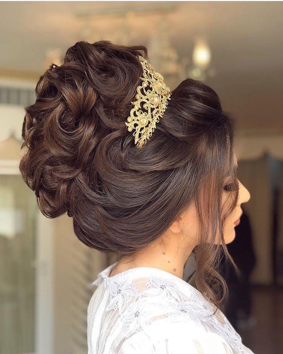 Pin De Avi Singh En Beautiful Hair Style S En 2020 Peinado De Novia Recogidos Peinados Boda Pelo Largo Peinados Pelo Medio