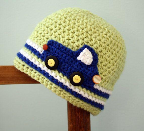 Vroom Vroom Truck Hat by MaryOriginals on Etsy, $30.00