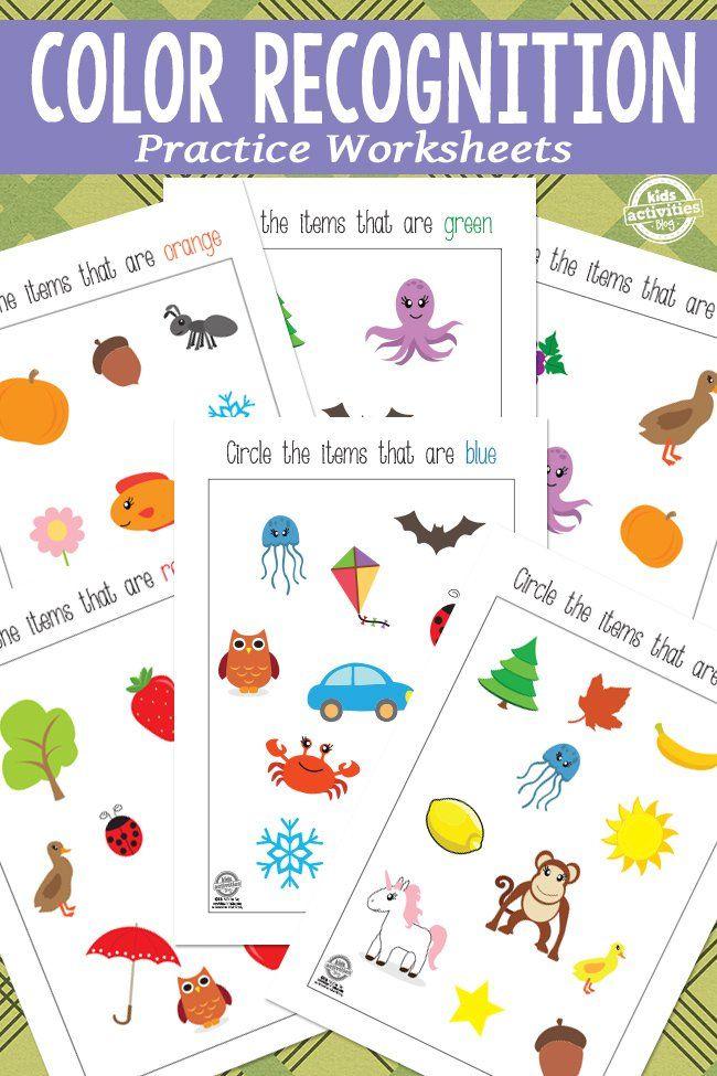 Color Recognition Printables Color Recognition Printable Activities For Kids Preschool Colors Preschool color recognition worksheets