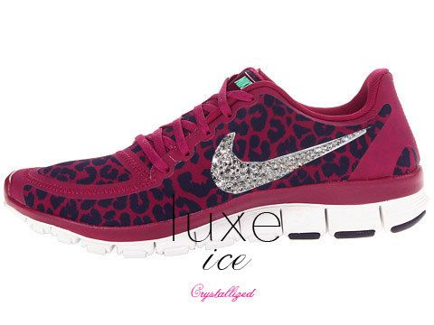NIKE run free 5.0 v4 shoes w Swarovski Crystals detail by luxeice ... 671557f5d