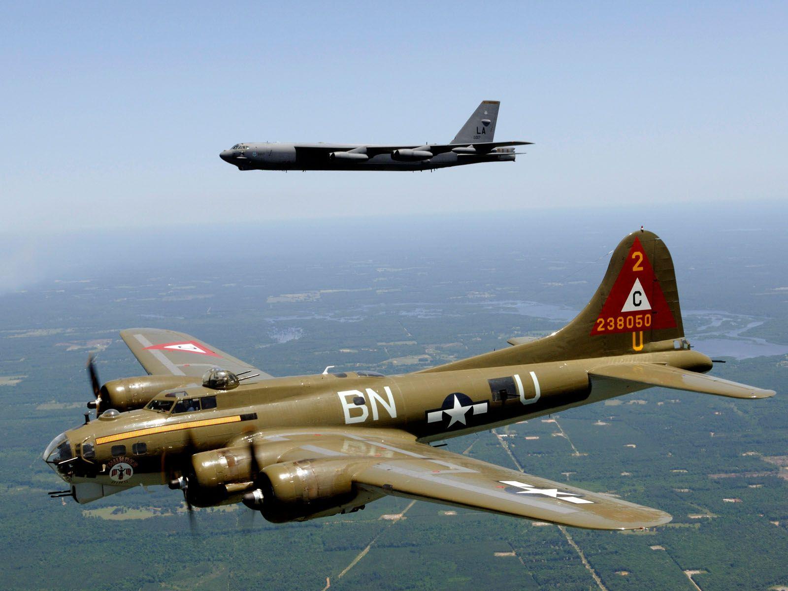 B-17 \u0026 B-52 The aviation equivalent of Veterans Day | Aviation ...