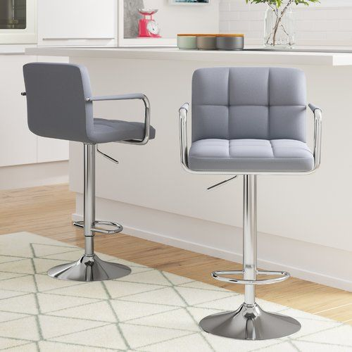 Surprising Orren Ellis Bea Height Adjustable Bar Stool In 2019 Ibusinesslaw Wood Chair Design Ideas Ibusinesslaworg
