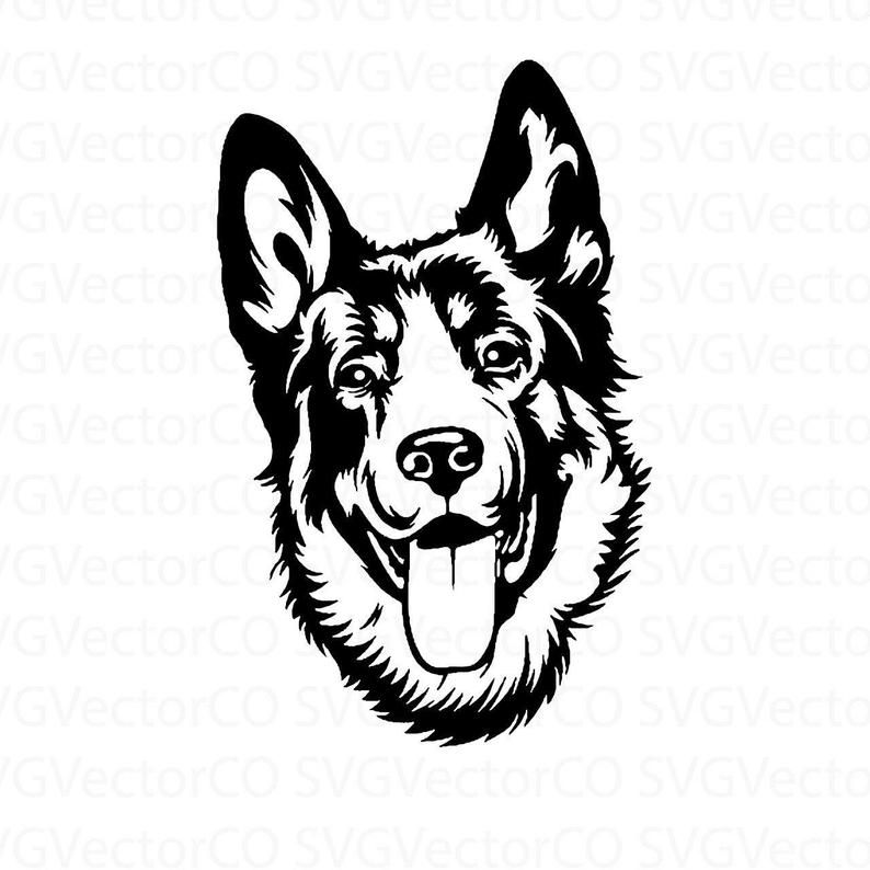 German Shepherd SVG for Cricut Police Dog PNG JPG