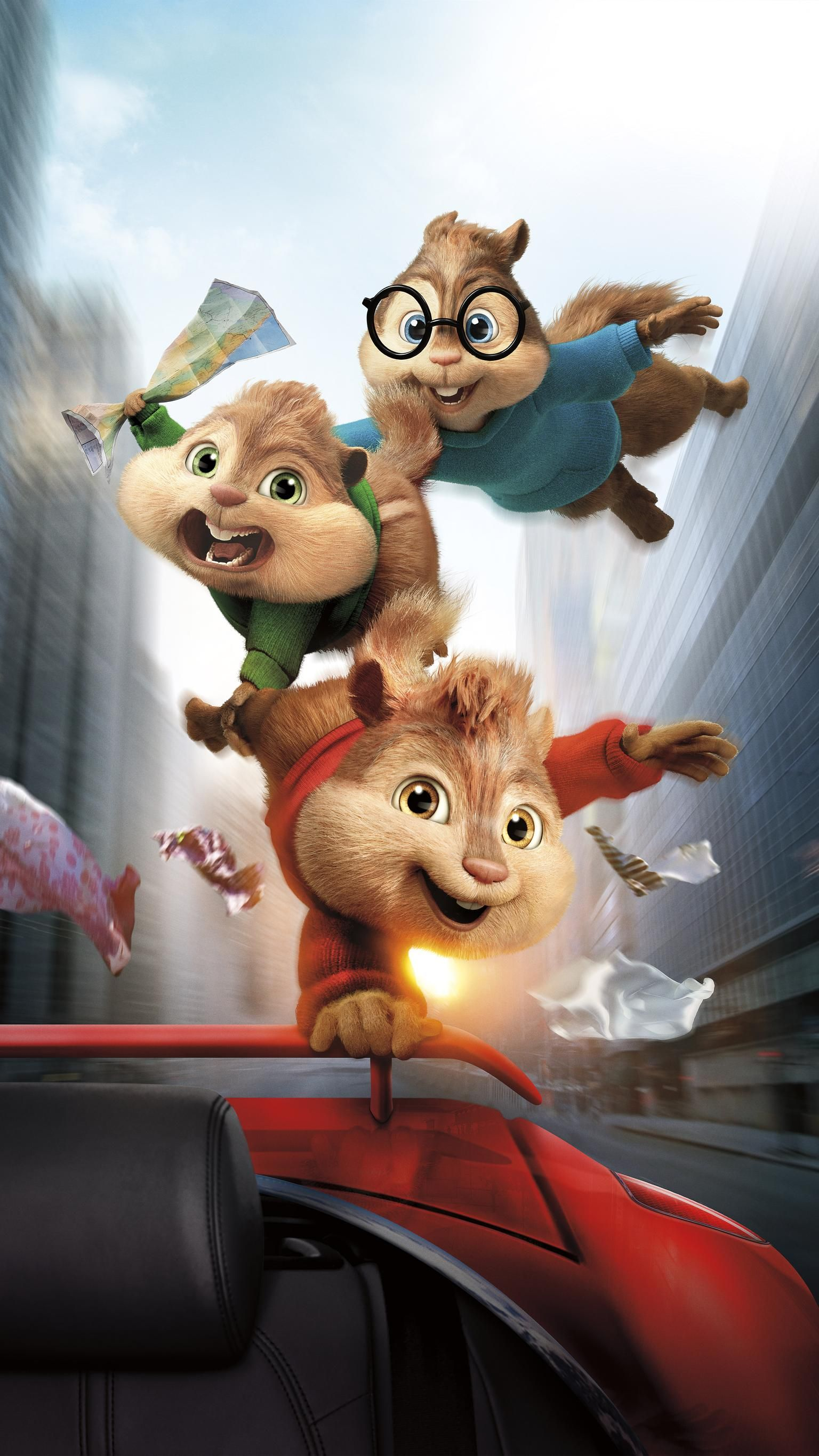 Alvin And The Chipmunks The Road Chip 2015 Phone Wallpaper