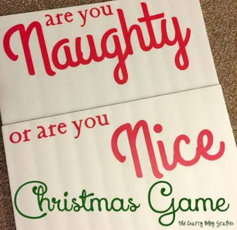 Naughty or Nice Christmas Game Christmas traditions, Group and Nice