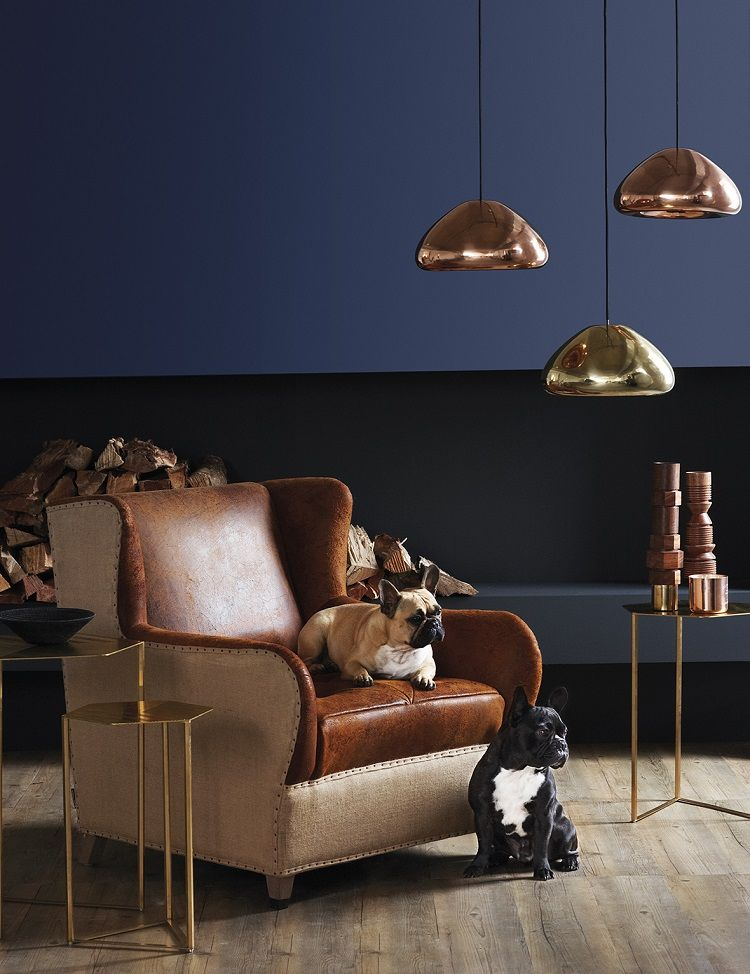 lovely copper blue living room   10 Things I Learnt About Paint   12th Avenue   Blue ...