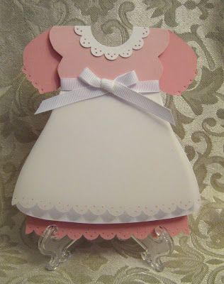 Stamp N Design Baby Girl Dress Free Template Baby Cards Shaped Cards Dress Card