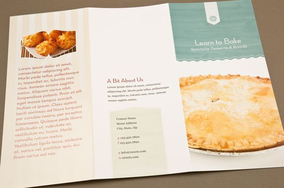 baking school brochure template editorial pinterest brochure