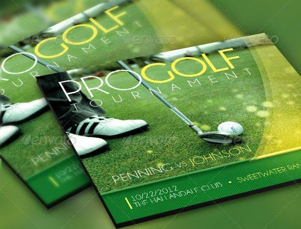 golf tournament flyer template golf tournament Pinterest - golf tournament brochure