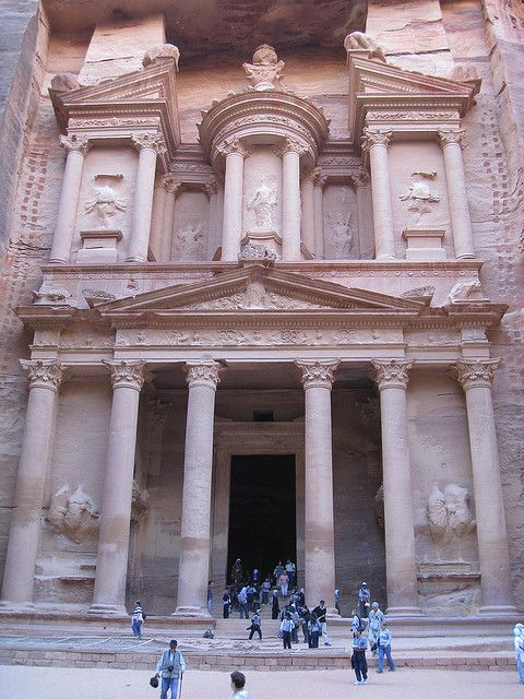 Al-Khazneh (Treasury) by ChrisYunker, via Flickr  Petra, Jordan