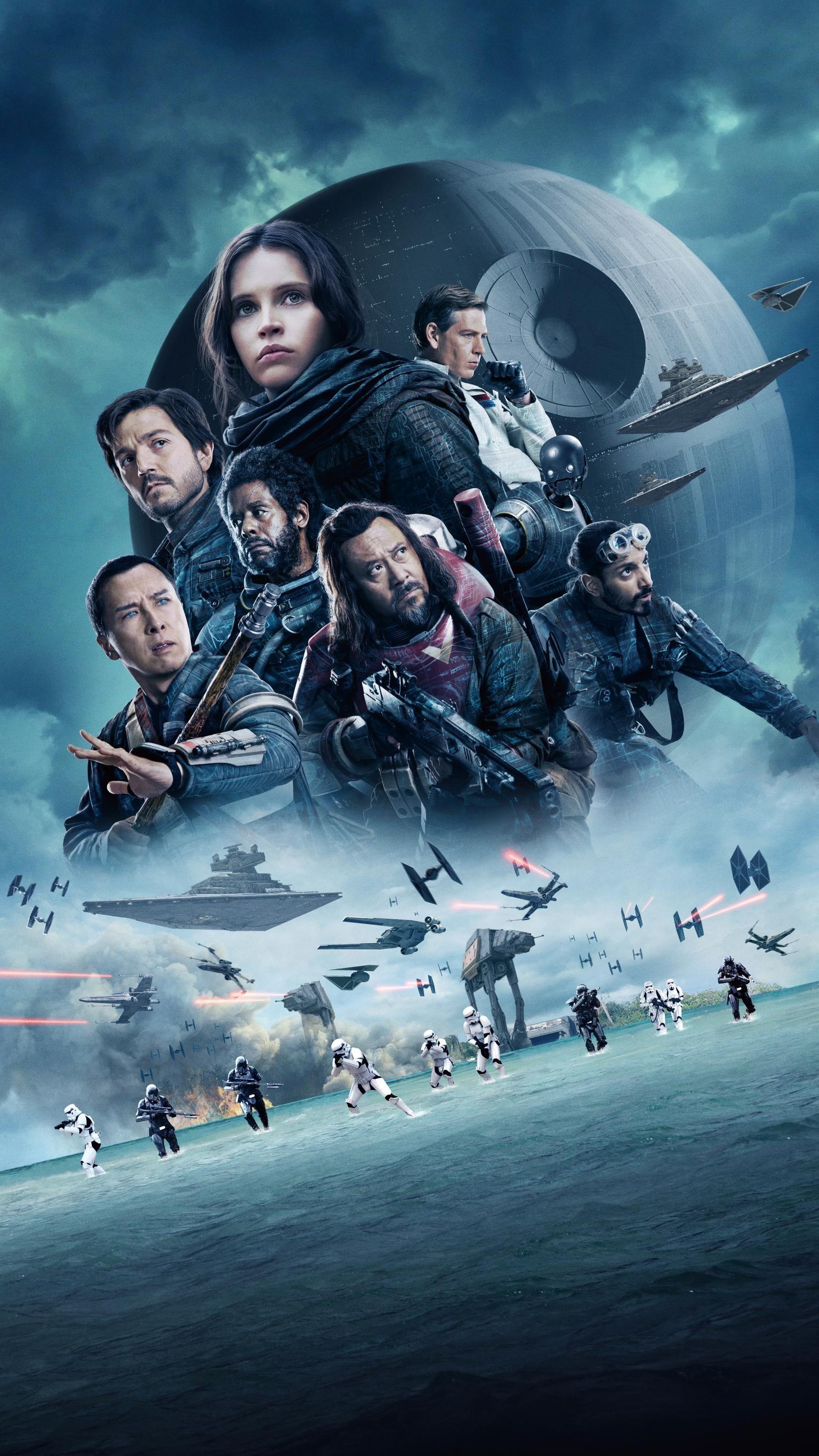 Rogue One A Star Wars Story 2016 Phone Wallpaper Moviemania Rogue One Star Wars Star Wars Movies Posters Star Wars Wallpaper