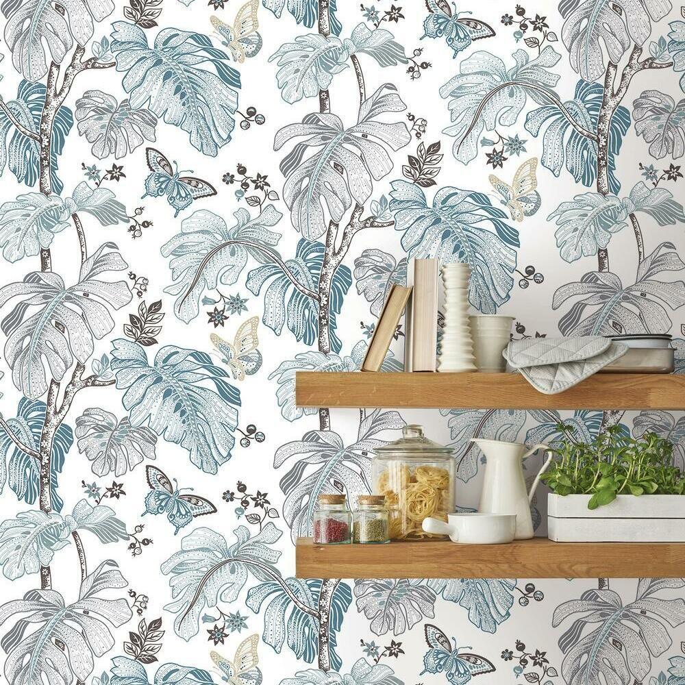 Boho Palm Peel And Stick Wallpaper Peel And Stick Wallpaper Room Visualizer Wallpaper