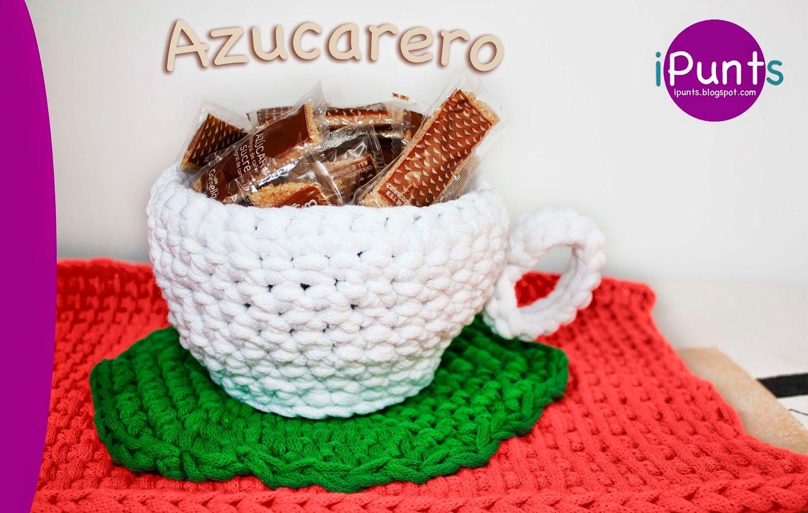 Azucarero de trapillo a crochet. Patrón gratis en nuestro blog de ...