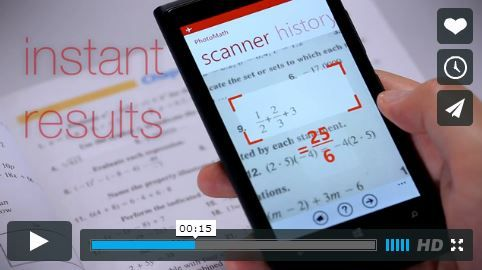 Free App take a photo of a math problem, it solves it
