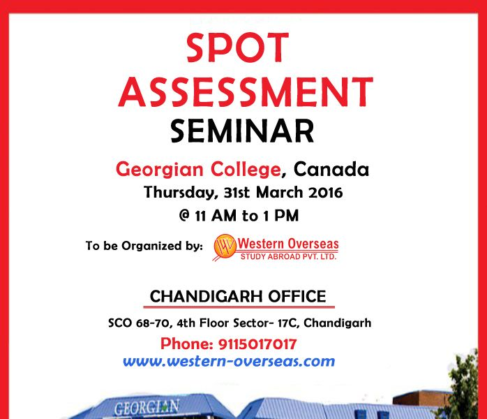 On Spot Assessment #Seminar By #Georgian College #Canada in - assessment